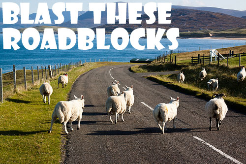 Roadblock on Harris