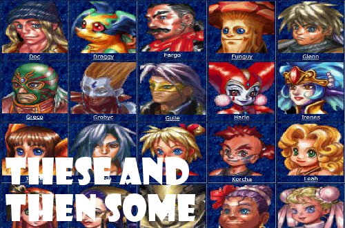gd chrono cross week characters